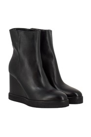 Black ankle boots with wedge