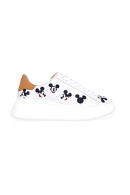 Sneakers Doble Gallery in pelle con ricami Mickey Mouse