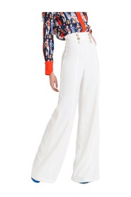 Palazzo trousers with buttons