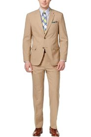 Suit Set Tan  Short  2 Piece Wool
