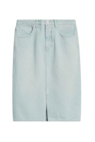 Emmet light denim pencil skirt