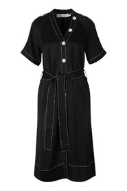 Buttoned Crepe Dress