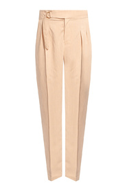 Pinstriped trousers