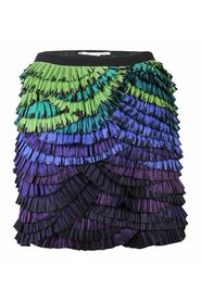Colorful Ruffles Mini Skirt