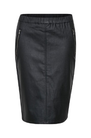 Ada Coated zip skirt