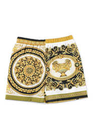 baroque print  swim shorts