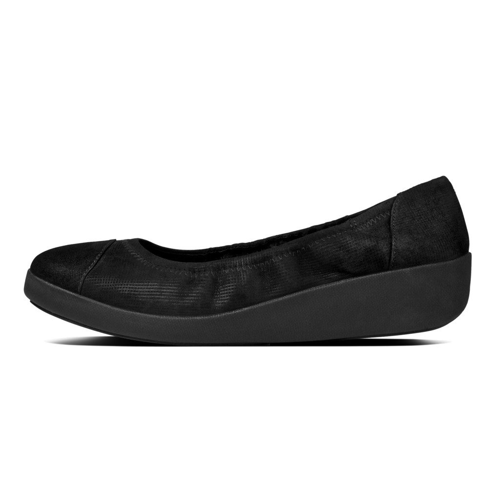 Sort Fitflop F Pop Ballerina