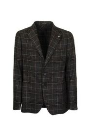 Checked two-button jacket