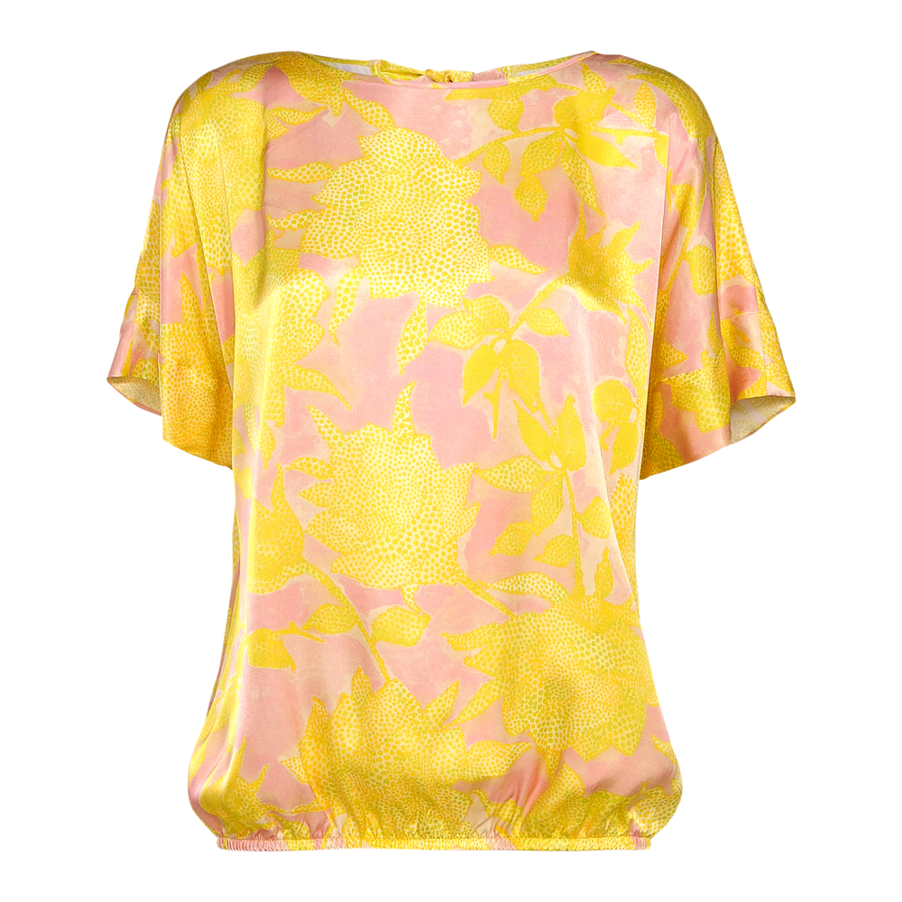 Top with floral print