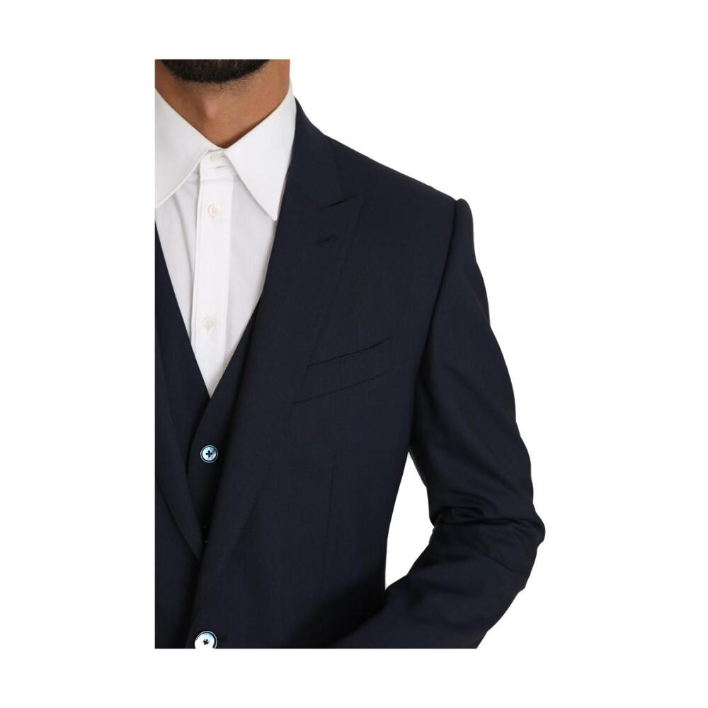 Blue Blazer Vest 2 Piece | Dolce & Gabbana | Marynarki do garnituru - Najnowsza zniżka uSel6
