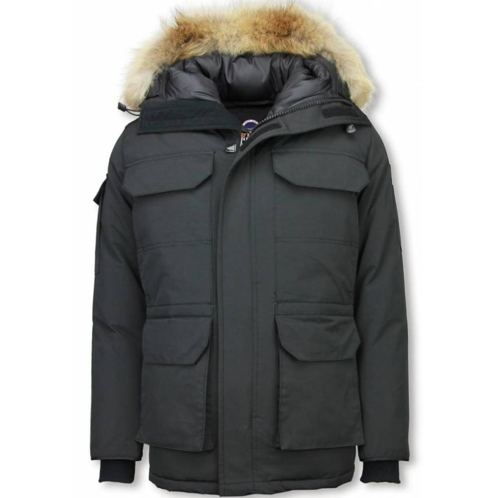 Heren Winterjas Halflang - Bontkraag - Expedition Parka