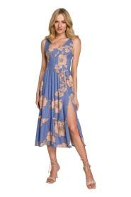 Sukienka midi bez rękawów