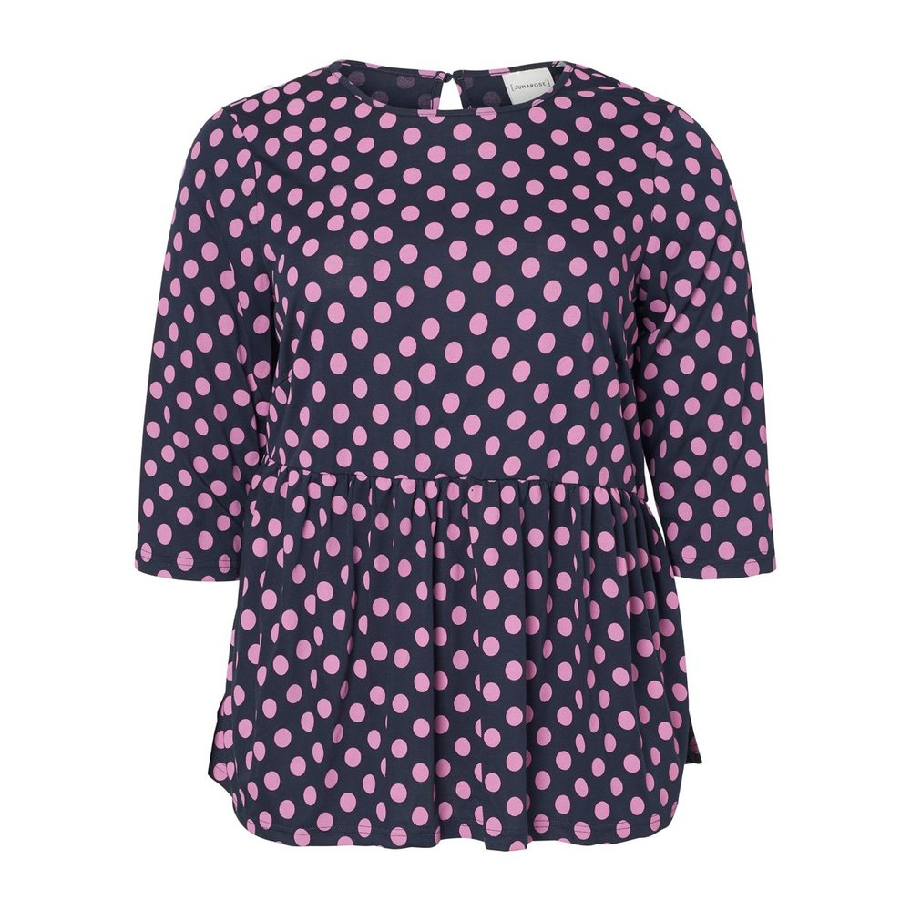 3/4 sleeved blouse Dotted