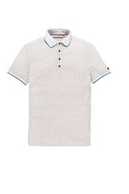 CAST IRON CAST IRON SHORT SLEEVE POLO COLOURED DOT AOP BONE WHITE MELE POLOSHIRTS CPSS193554 910