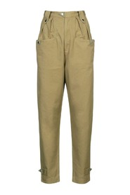 Khaki pants Pulcie with wide legs