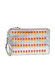 Leather And PVC Pill Blister Wristlet Clutch