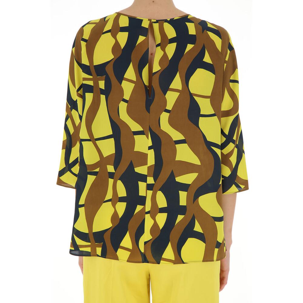 Yellow/brown/gray Blouse | Aspesi | Puserot | Naisten vaatteet Osta paras