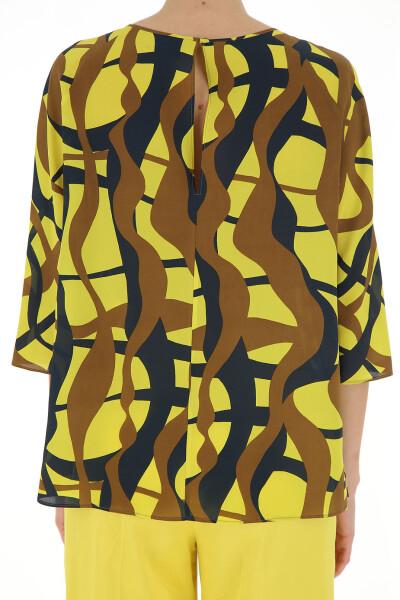 Yellow/brown/gray Blouse Aspesi Blouses
