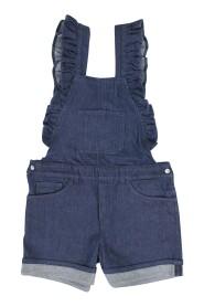 teen salopette di jeans in cotone stretch