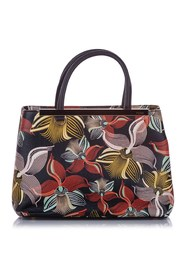 Petite Orchid Printed 2Jours Leather Satchel