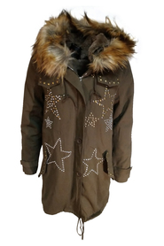 Parkas with rivets Nl1148