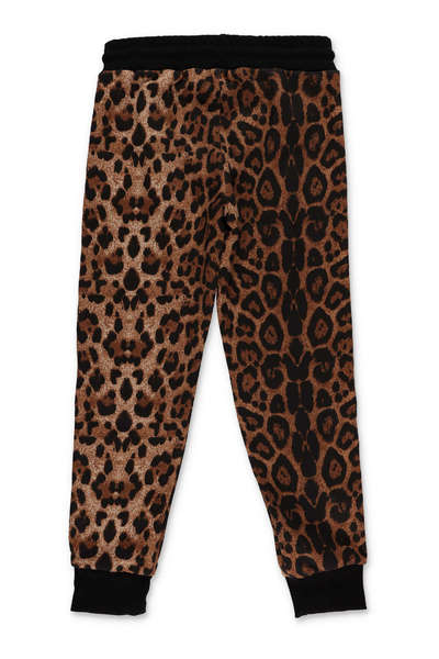 Dernier Brown Animal print pants GCDS Pantalons de jogging VrKxA