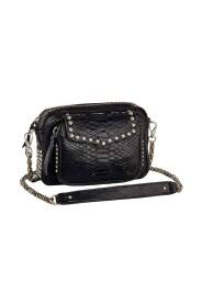 Black Studs Charly Python Bag