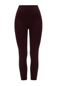 Leggings with embroidered lettering