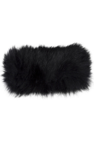 MJM Rabbit Fur Headband Black