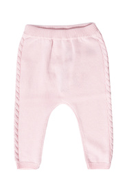 Knitted trousers with logo