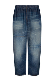 Jeans with elastic waistband
