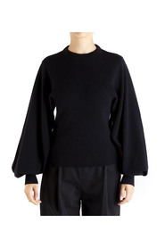 WOMEN'S ROUND NECK SWEATER WITH WIDE AND OPEN SLEEVE