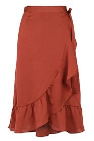 Mika solid wrap skirt Copper - Neo Noir
