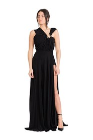 Long pleated dress with star