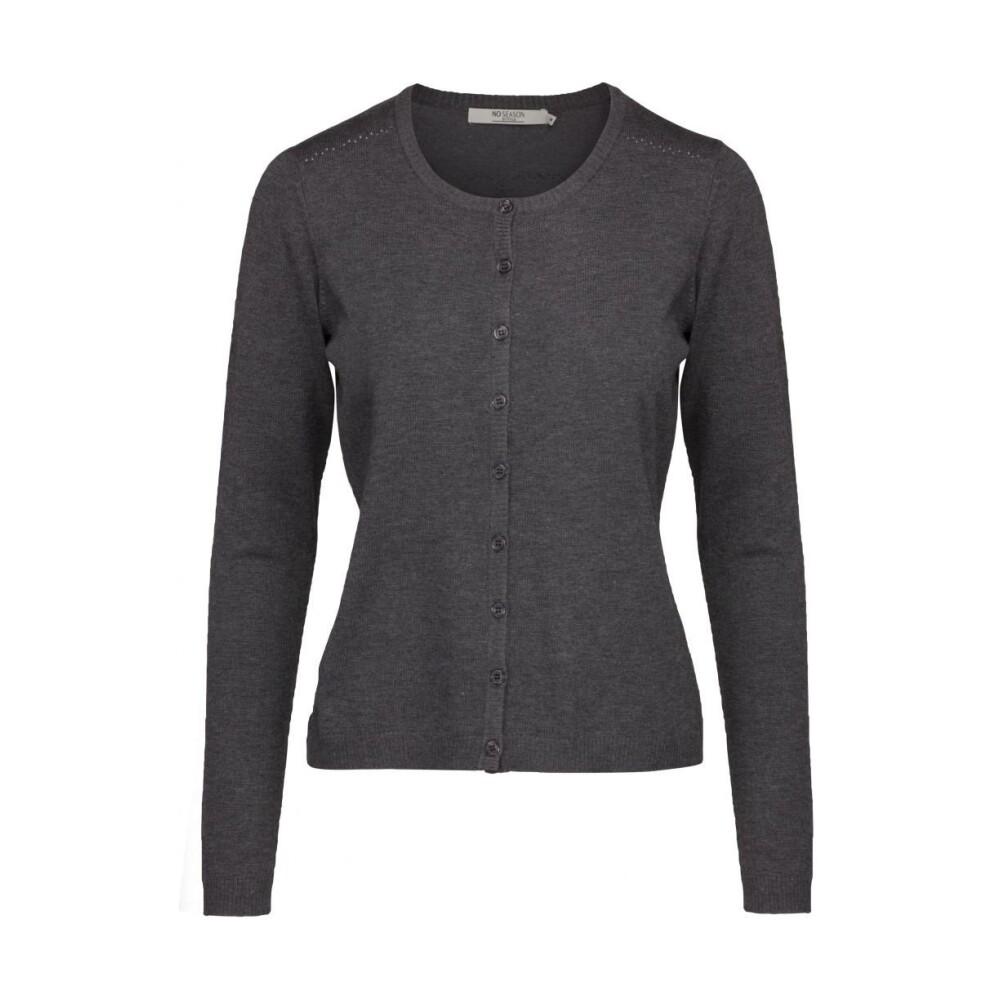 New Laura cardigan - dark grey melange Minus Striktrøjer til Damer i Grå
