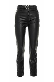 Leather- Effect Trousers  With Love Birds Belt
