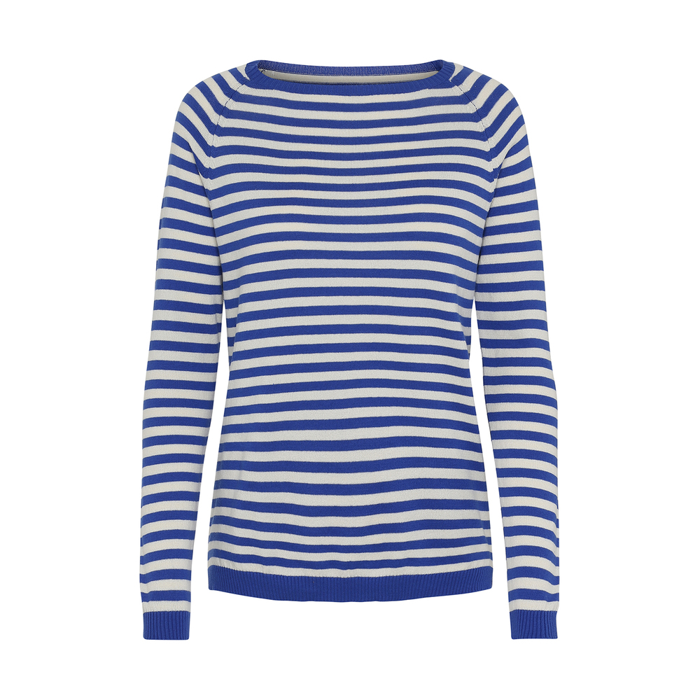 Mellow Striped Knit-Ecru Grey Stripe-S