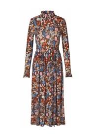 Style Goya Clarable Light Jersey Kjole, Blommer Mocha