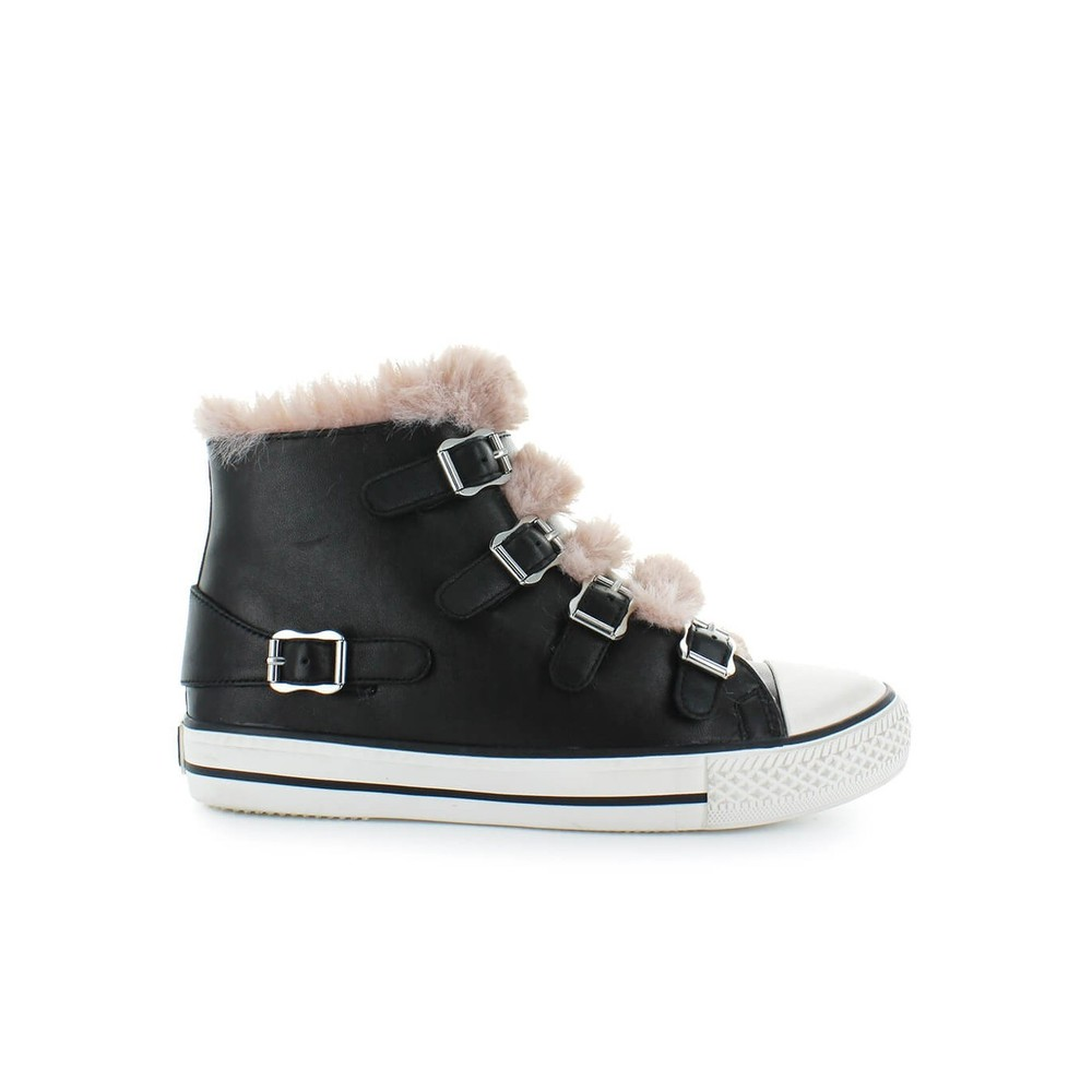 VALKO SNEAKER WITH PINK FAUX FUR