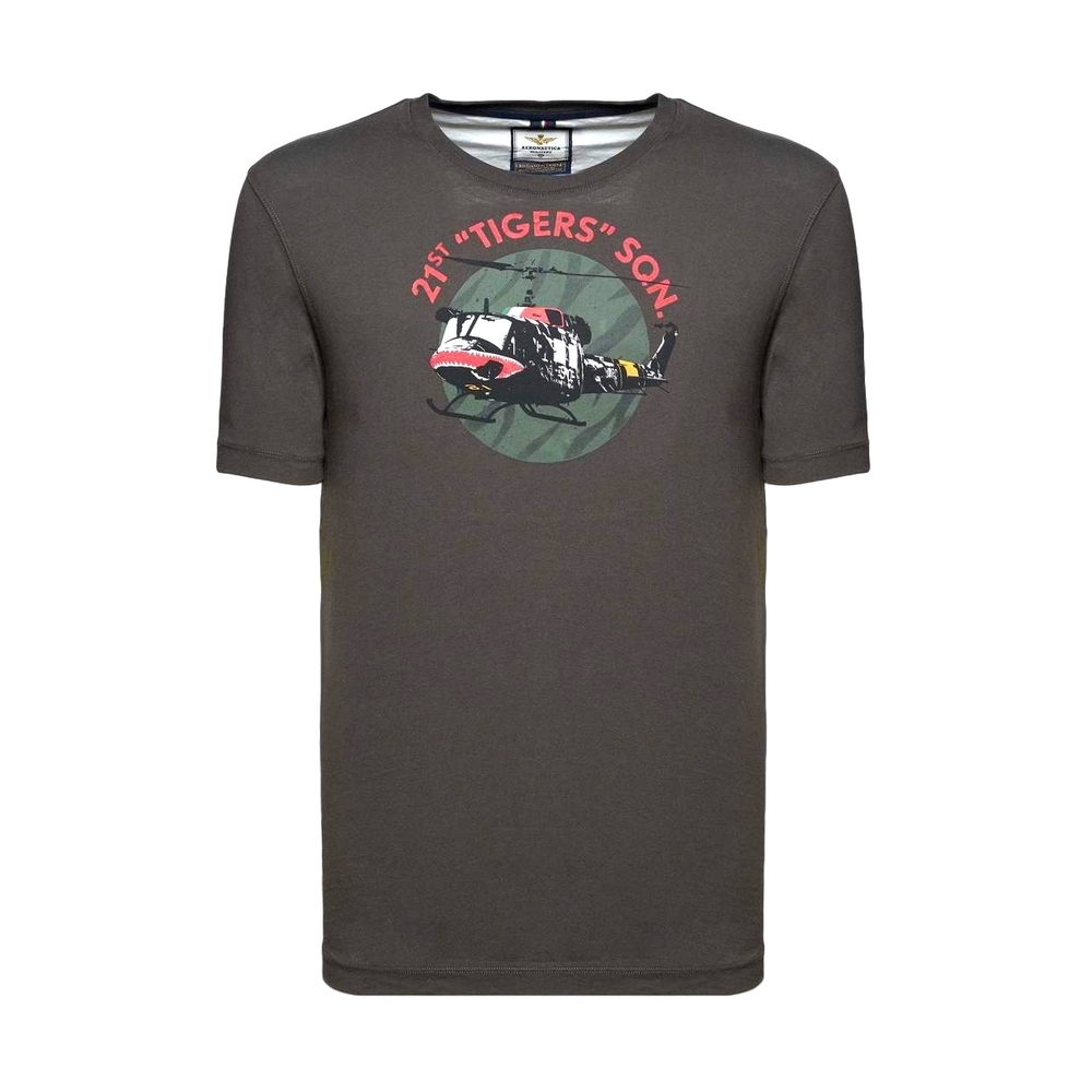aeronautica militare Short Sleeve T-Shirt Grå