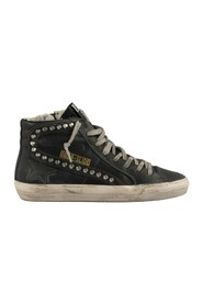 Slide Sneakers in Metal Studded Leather