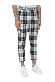 Trousers with Square Pattern