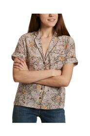 Gil short sleeves floral print silk shirt