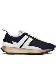 RUNNING SNEAKER IN NYLON NAPPA AND SUED SNEAKERS