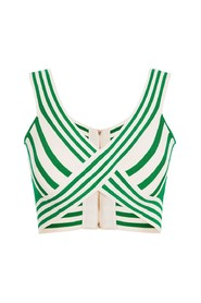 To-tone mynte tricot top