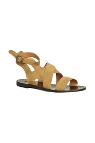 Giudi suede leather flat sandals