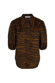 Mønster Co`Couture Java Tiger Puff Shirt Bluse