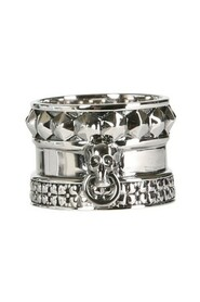 SKULL AND SPIKE RING