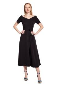 Sukienka midi z odsłoniętymi ramionami, SUK181