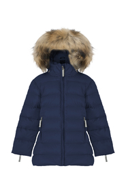 Marineblå Jakke Featherlight Girls Acoat W/Fur fra Ver De Terre